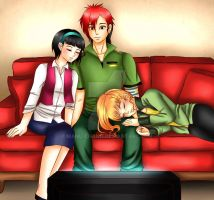 Commission: Lee , Tina and Jenny by manu-chann