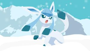 Glaceon in the snow (GIF) by HelloimKiki