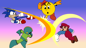 Cartoon Smash Bros by crimson-bakeneko