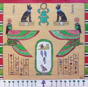 Egyptian Box Lid by LMColver