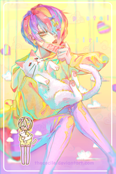 Pastel Girl! (+ speedpaint) by TheCecile