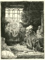 Faust in his Study, After Rembrandt by matthias-corvidae