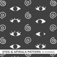 Eyes And Spirals Pattern by raionxdesu