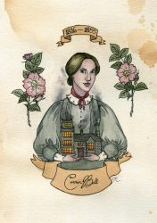 Charlotte Bronte by Kitty-Grimm
