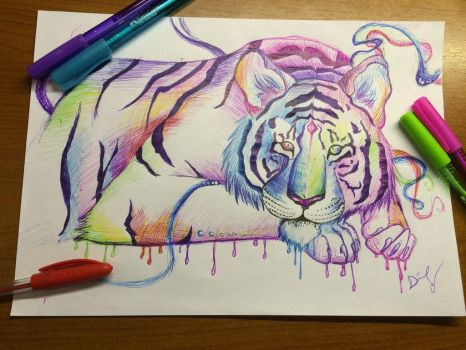 The Rainbow Tiger by TCMoonlight