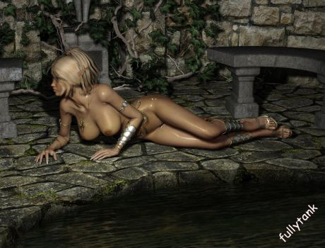 Paladin at the pond - Lounging by fullytank