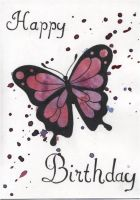 Butterfly card by Angelic14