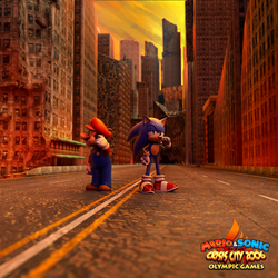 Mario and Sonic at the Crisis 2006 Olympic Games by Fentonxd