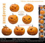 Halloween Pumpkins by YBsilon-Stock