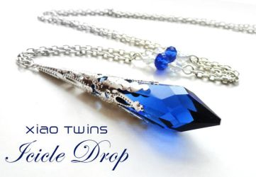 SOLD - Swarovski Sapphire Icicle Crystal Necklace by crystaland on  DeviantArt 0230f1c8e