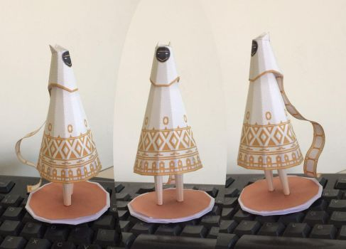 Journey White Guy Papercraft by guitarseer