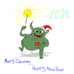 Merry (late) Christmas and happy New Year by Rexart35
