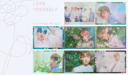 BTS [Love yourself] Coloring by Bai by Siguo