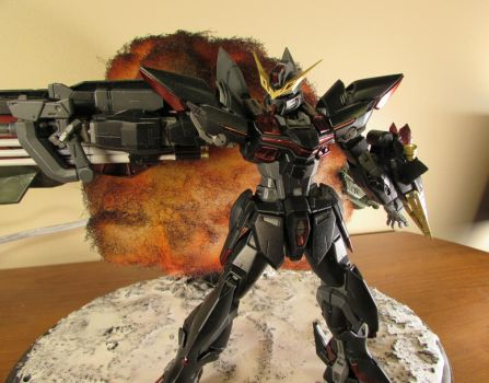 Blitz Gundam Explosion Diorama by AdventEchoes