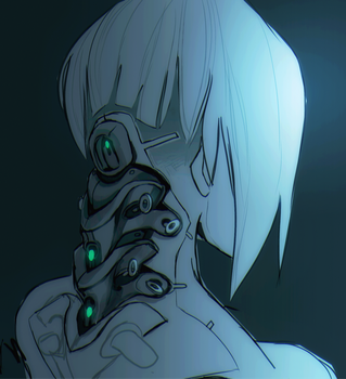 Cybernetic Spine Sketch by lightning-seal