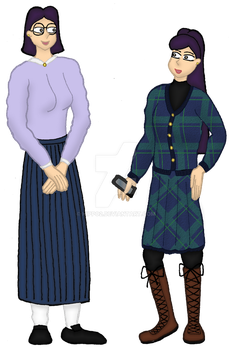 Character Study: Jennifer and Cindy by hippo2