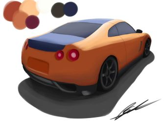 Painted Nissan GTR by ZigZagMag