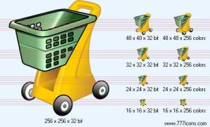 Hand cart Icon by money-icons