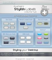 Stylish Labels 2 for AveDesk by HybridRainbow2004
