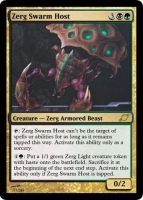 Zerg Swarm Host by starcraftmtg