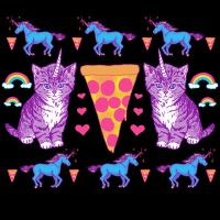 Kittycorn Pizza Rainbows by HillaryWhiteRabbit