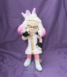 Pearl Plushie with Printed Fabric by dollphinwing