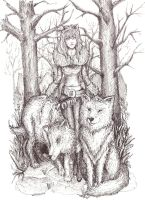 .Trees and wolves. by CHaTeRe