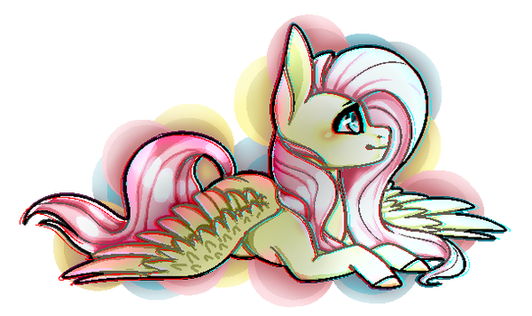( Collab ) Fluttershy by SilverLove234