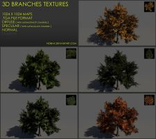 Free 3D branches textures 02 by Yughues