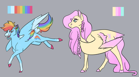 Pretty Pastel Horses? In My art? by NightshadeTheRanger