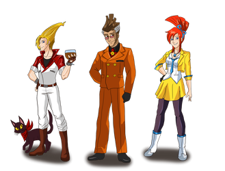GT characters cosplaying as AA by AnaPaulaDBZ
