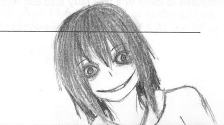 Jeff the Killer Doodle by TheStrawberryWitch