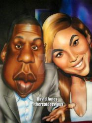 Jay Z and Beyonce Caricature by DeeViouS001
