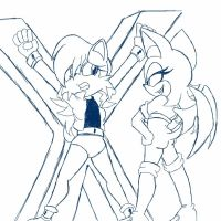 AT Sketch: Rouge's Captive by BoundLightning