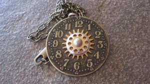 Dial Clock Steampunk Necklace by PunkTrunk