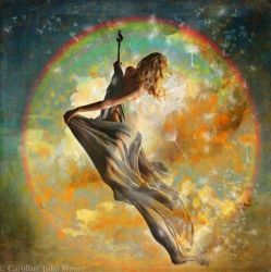 Hooked on rainbows with Light and Dandelion Clocks by Squijoo