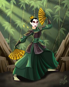 Mulan of the Kyoshi Warriors by racookie3