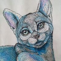Detail of Blue Cat by artifexToils
