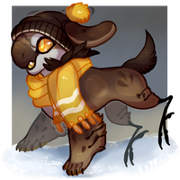 Winter Day Gold (YCH) by GreaserDemon