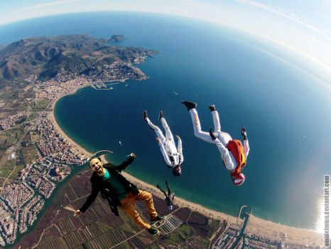 my cousin Free fall :D by omidelmian