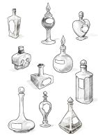 Filler art: Potion bottles by Maieth