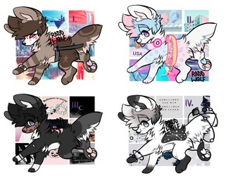 (OPEN 1/4) Themed Dog adopts by Silverkink