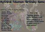 Mythical Pokemon Birthday Game by EliteUnicorns