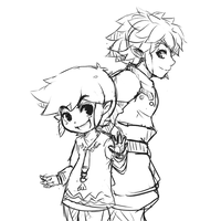 Link and Toon Link 2 [Sketch] by CheloStracks