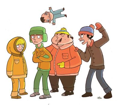 South Park: The Gang by annamariajung