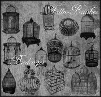 Birdcages Brushes Set 1 by Falln-Stock