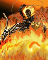 Ghost Rider - Battle Artist by TheCobraCommander