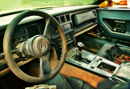 Junked 1986 Corvette C4 Interior by humloch