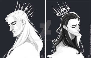 Thor and Loki Crowns by ramida-r
