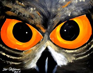 OWL EYES AMAZING STARE by TEOFAITH